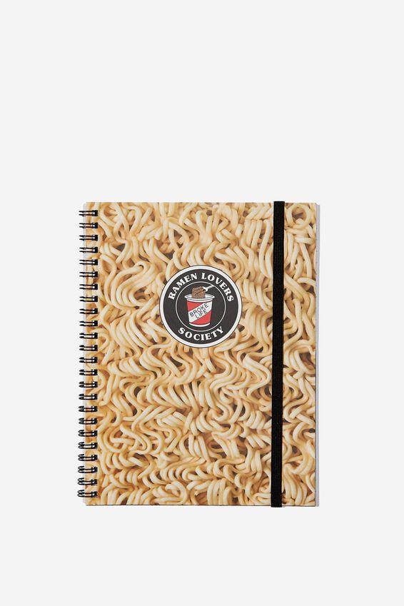 Small Spinout Notebook - V, RAMEN NOODLES
