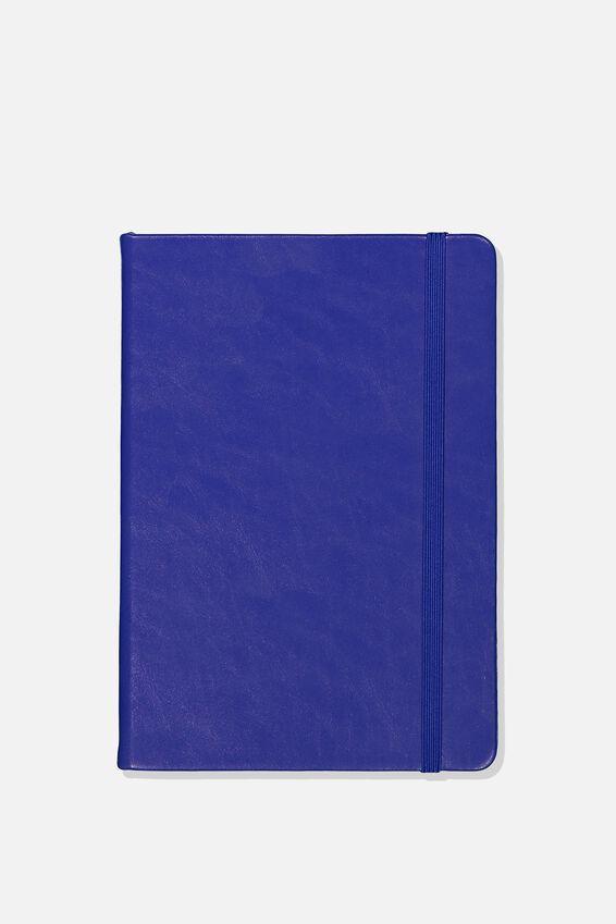 A5 Blank Buffalo Journal, DEEP SKY BLUE