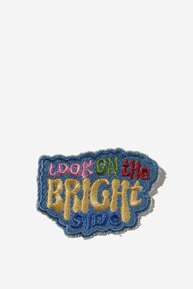 Fabric Badge, BRIGHT SIDE