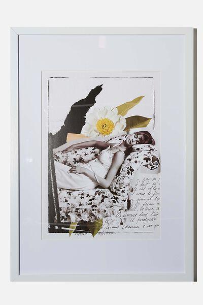 A3 Framed Print, LCN ICO NORMAN PARKINSON LOUNGE