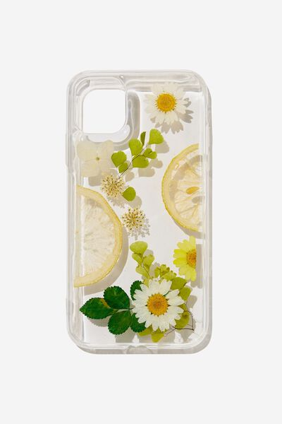 Protective Phone Case iPhone 11, TRAPPED LEMON DAISY