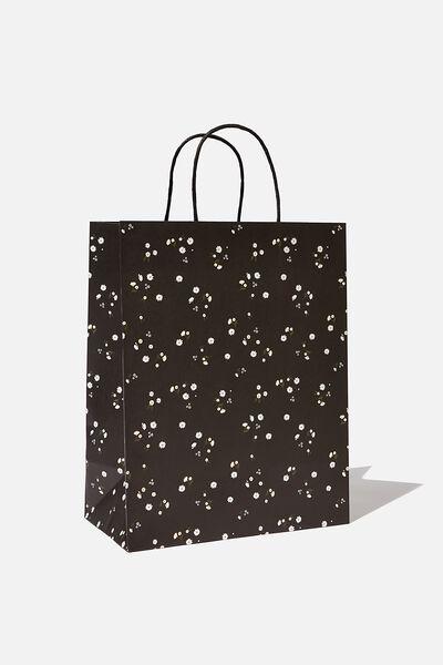 Get Stuffed Gift Bag - Medium, BLACK DAISY MEADOWS
