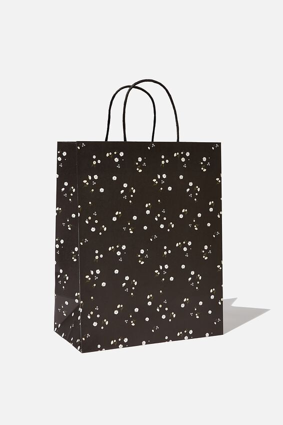 Get Stuffed Gift Bag - Medium, BLACK DAISY MEADOWS