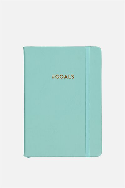 Personalized Medium A5 Buffalo Journal, BLUE