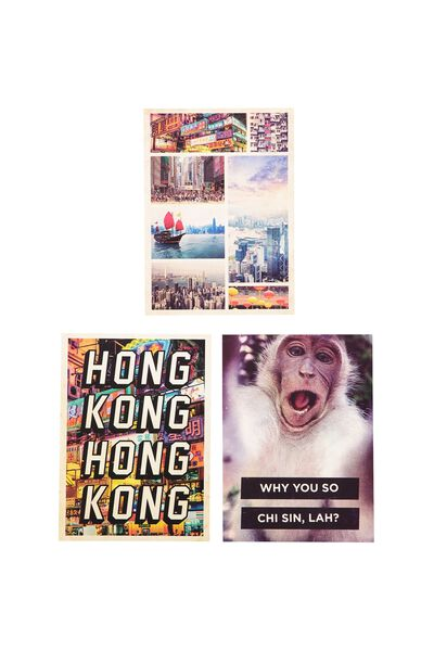 Premium Postcard Pk Of 3, HONG KONG