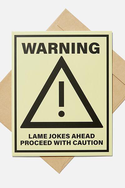 Blank Card, WARNING LAME JOKES AHEAD