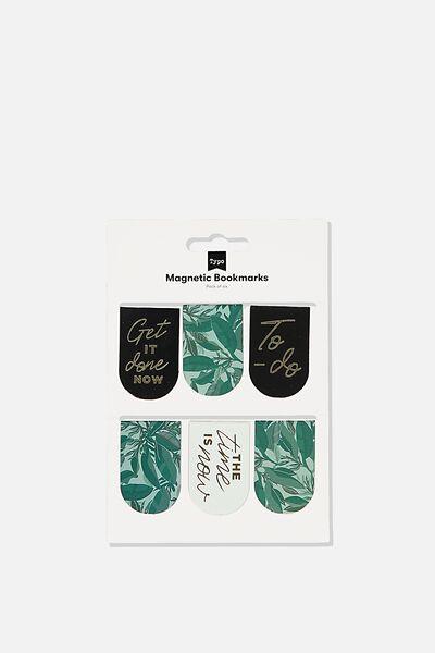 6Pk Magnetic Bookmark, BONDI FOLIAGE