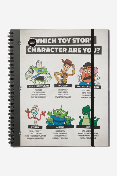 College Ruled Spinout Notebook V, LCN DIS TOY STORY