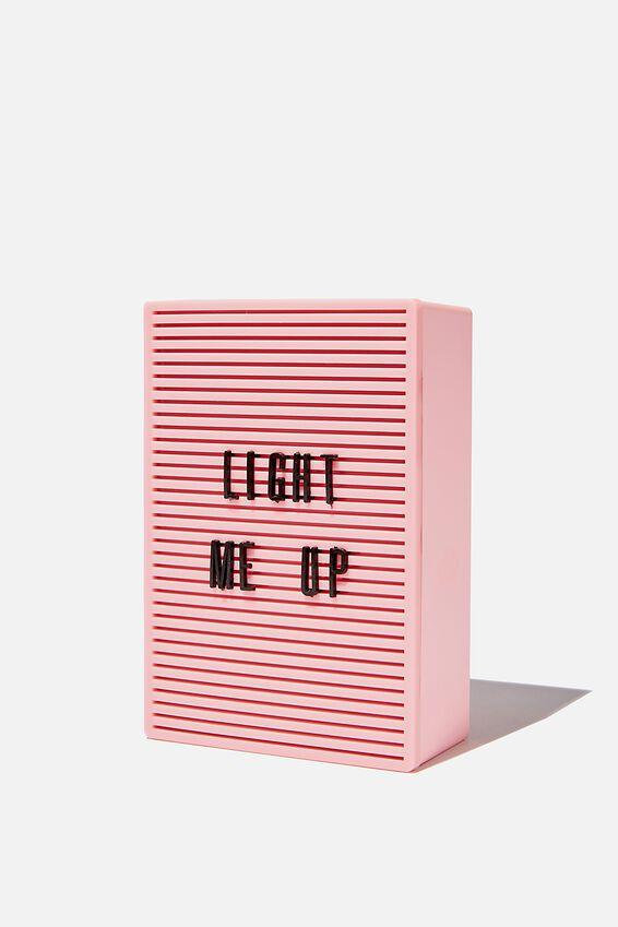 Micro Light Box, PLASTIC PINK