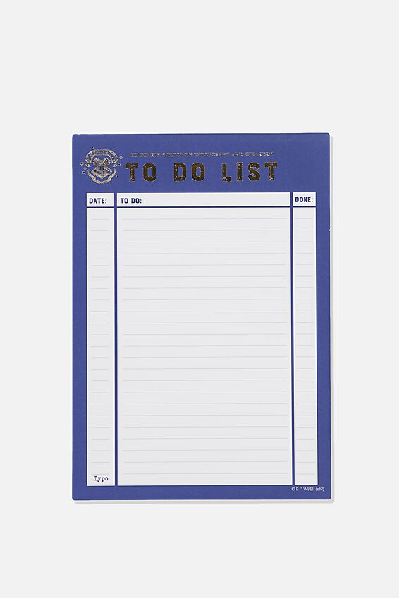 Harry Potter A5 Plan Ahead Planner, LCN WB HPO TO DO LIST