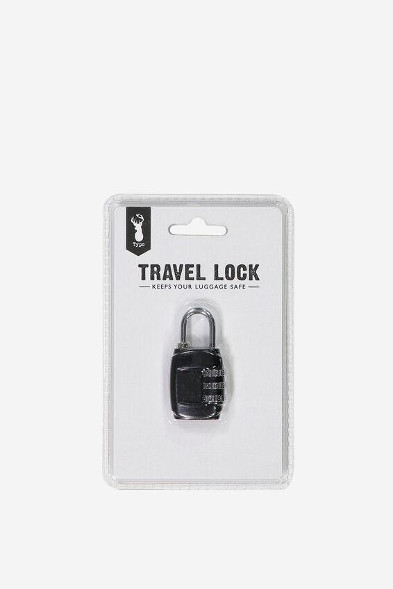 Travel Lock, BLACK
