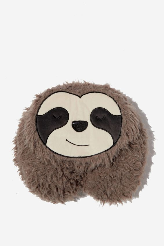 Travel Neck Pillow with Hood, SLOTH