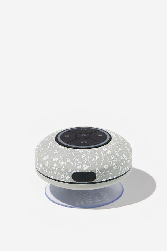 Wireless Led Shower Speaker, COOL GREY MEADOW DITSY 2.0