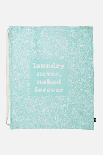 Laundry Bag, BLUE LACE