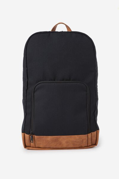 Travel bags voyager laptop backpack black tan typo gumiabroncs Gallery