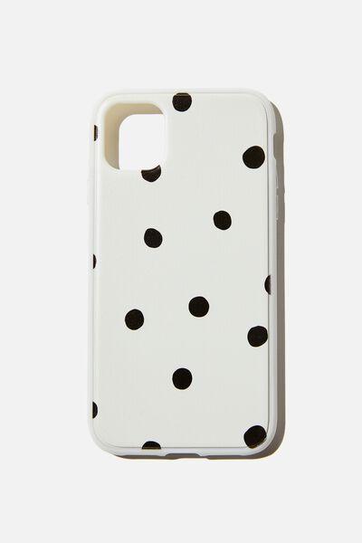 Protective Phone Case iPhone 11, OVERSIZED POLKA