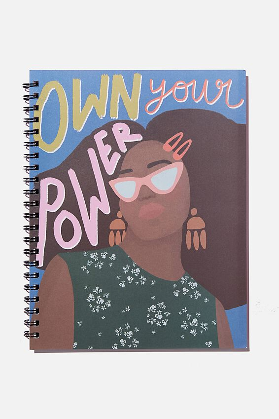 A4 Campus Notebook Recycled, OWN YOUR POWER