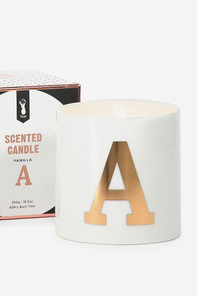 Ceramic Jar Candle, ROSE GOLD A