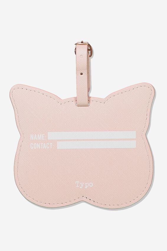 Shape Shifter Luggage Tag, BLUSH CAT