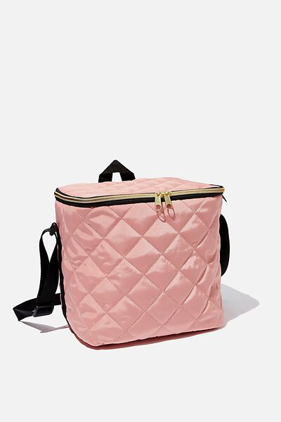 Tall Cooler Bag, DUSTY ROSE QUILTED