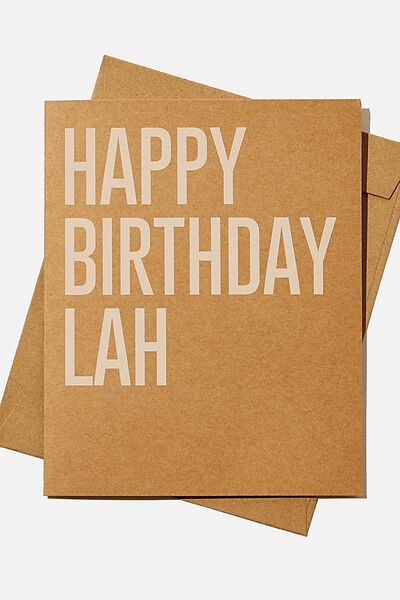 Nice Birthday Card, RG ASIA HAPPY BIRTHDAY LAH KRAFT