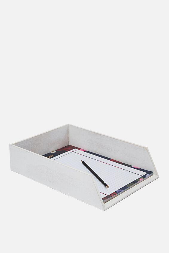 Desk Tray, WHITE