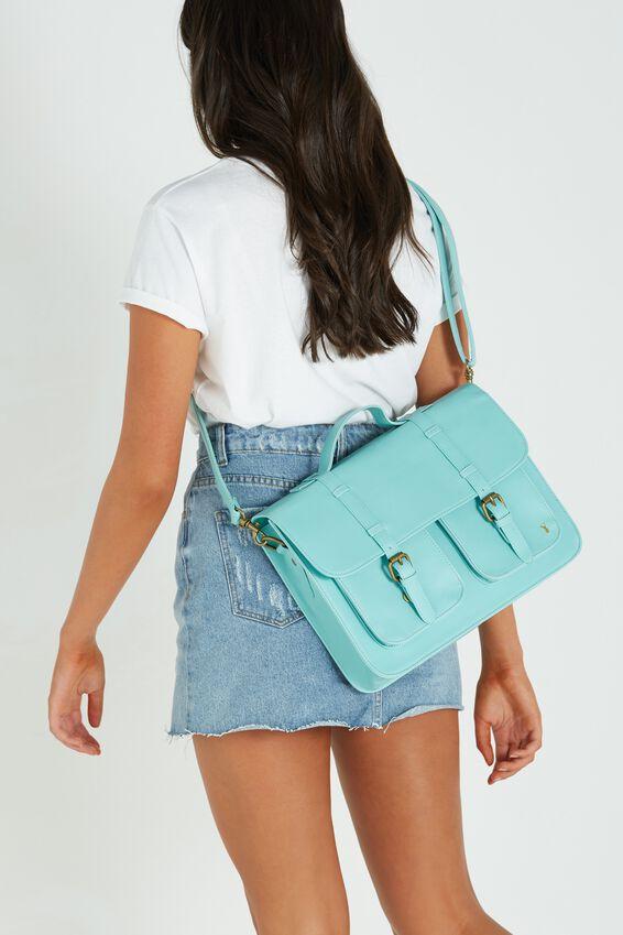 Buffalo Satchel Bag, BLUE