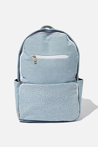 Formidable Backpack, CHAMBRAY W/ WHITE SPLATTER