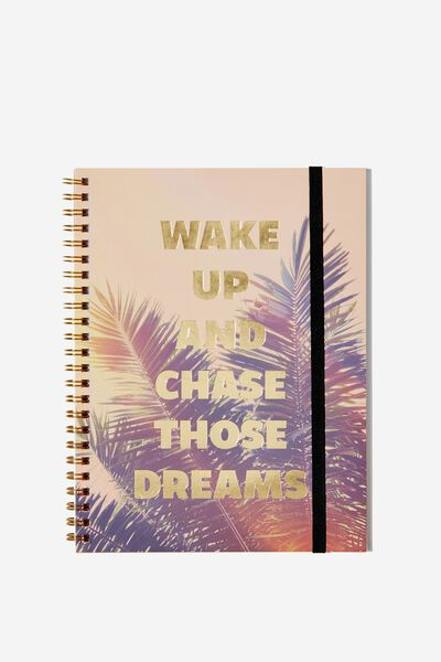 A5 Spinout Notebook - 120 Pages, CHASE THOSE DREAMS