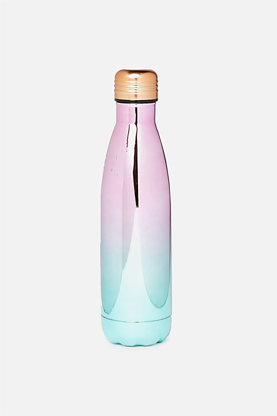 Metal Drink Bottle, PASTEL OMBRE ELECTROPLATE