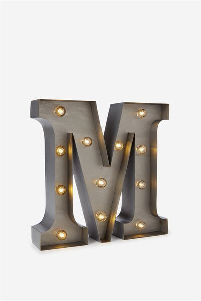Small Letter Marquee Light, SILVER M