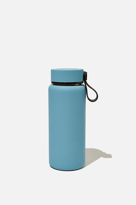 On The Move Metal Drink Bottle 350Ml, DENIM BLUE