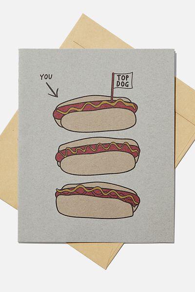 Blank Card, TOP HOT DOG