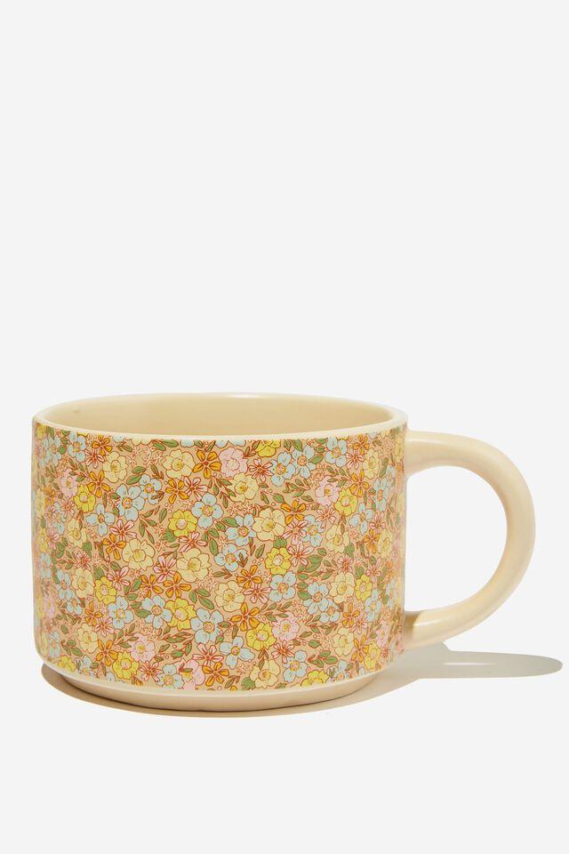 Big Hit Mug, DITSY FLORAL SAND