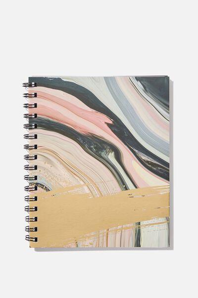A5 Campus Notebook, MARBLE SPLASH