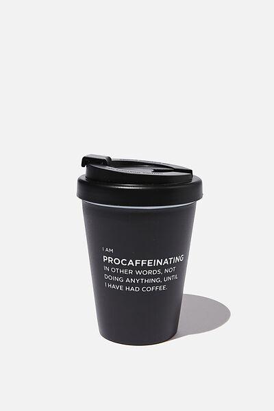 Take Me Away Mug, BLACK PROCAFFEINATING