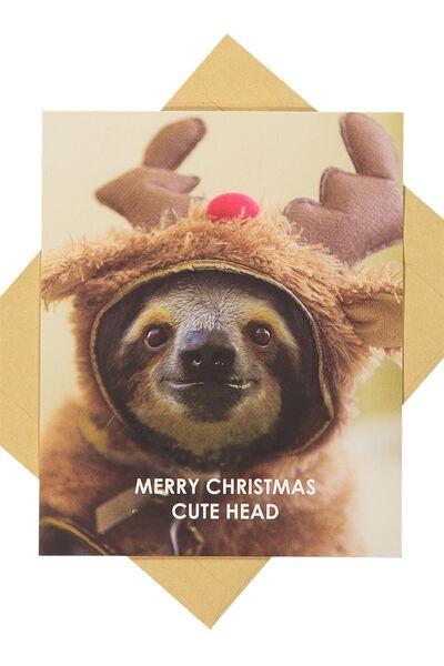 Christmas Cards 2017, CHRISTMAS CUTE HEAD