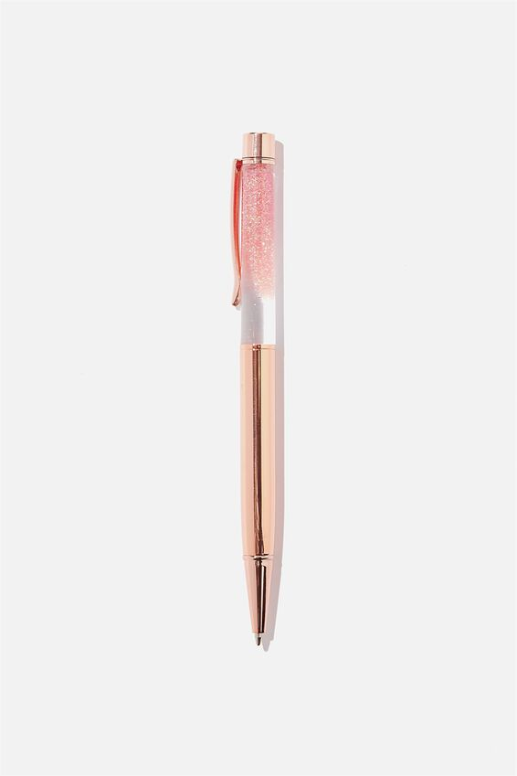 Sparkle Ballpoint Pen, PEACH AND ROSE GOLD