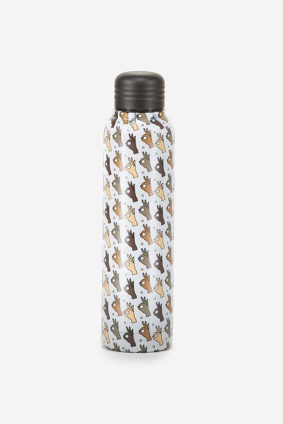Small Metal Drink Bottle, OKAY FINGERS