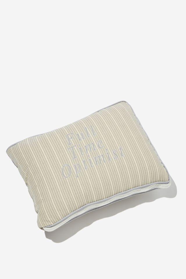 Convertible Cushion Throw, FULL TIME OPTIMIST