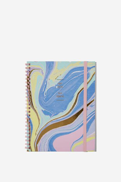 A5 Spinout Notebook - 120 Pages, PASTEL MARBLE