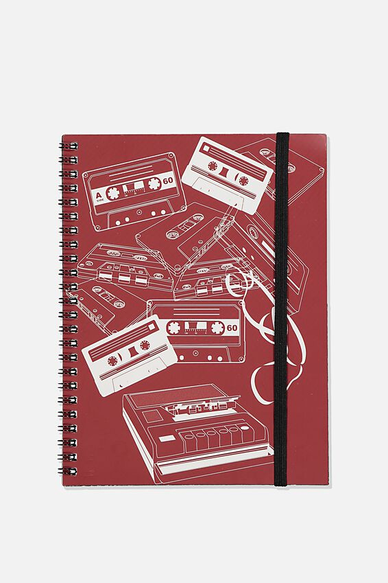 A5 Spinout Notebook Recycled, TBAR TAPE DECK