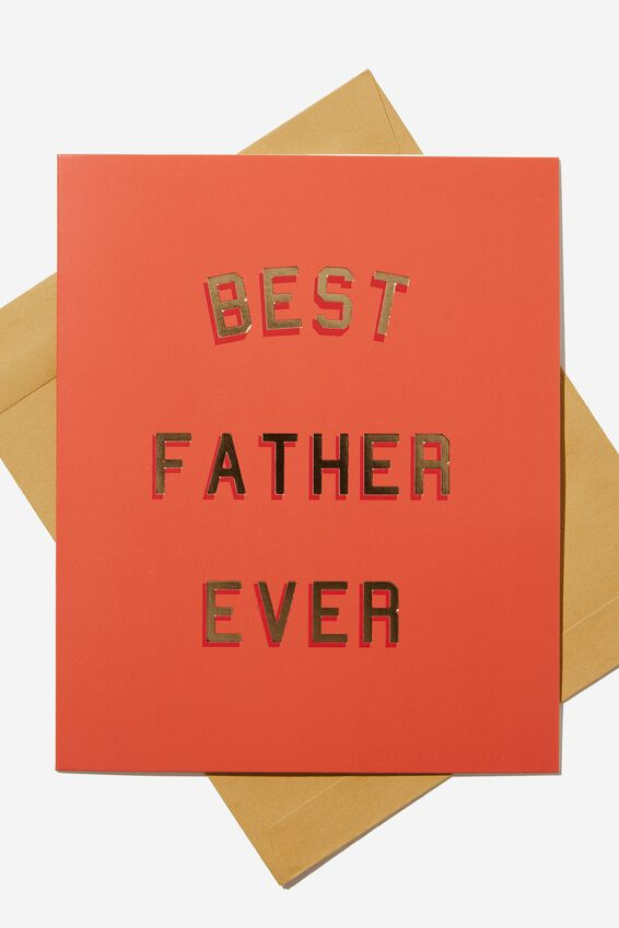 Fathers Day Card, BEST FATHER EVER