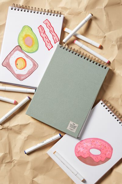 A4 Spiral Sketch Book, GUMLEAF