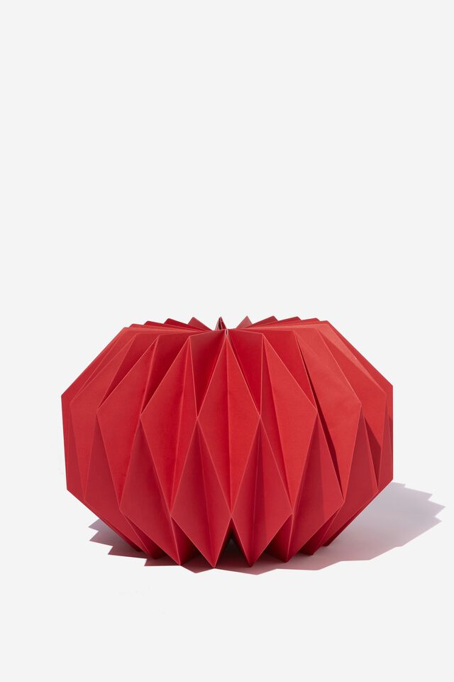 Paper Round Honeycomb Decoration, TRUE RED