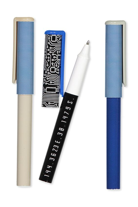 Campus Pen 3Pk, NAVY GREY