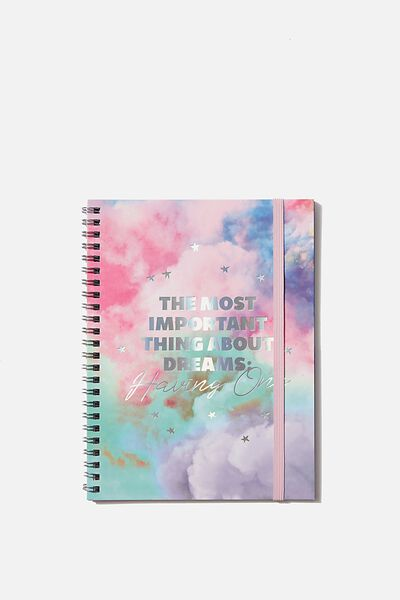 A5 Spinout Notebook Dot Page, HAVING DREAMS