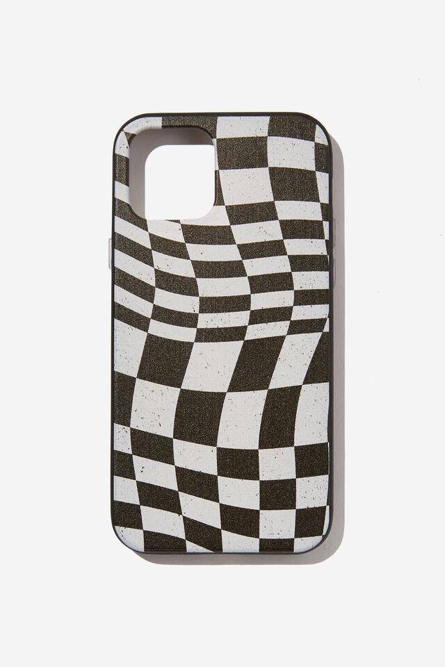 Protective Phone Case Iphone 12, 12 Pro, WARPED CHECKERBOARD