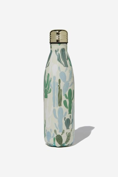 Metal Drink Bottle, CACTUS PRINT
