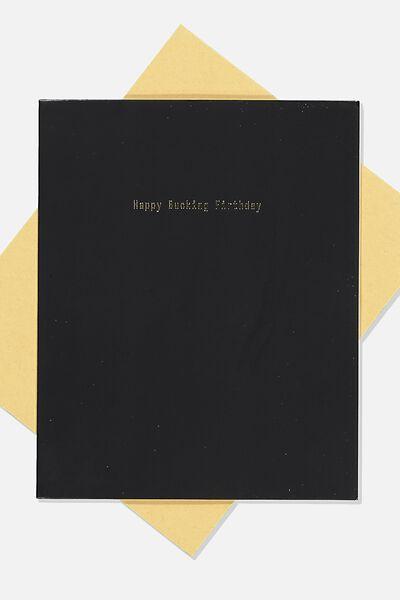 Funny Birthday Card, BUCKING FIRTHDAY!!